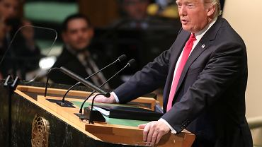 Szczyt ONZ w Nowym Jorku. Prezydent USA Donald Trump