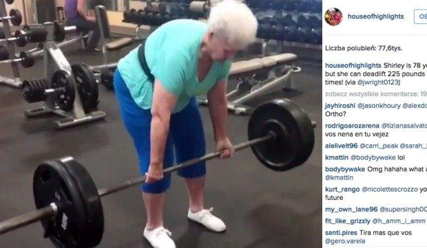 Shirley Weeb podnosi ciężary