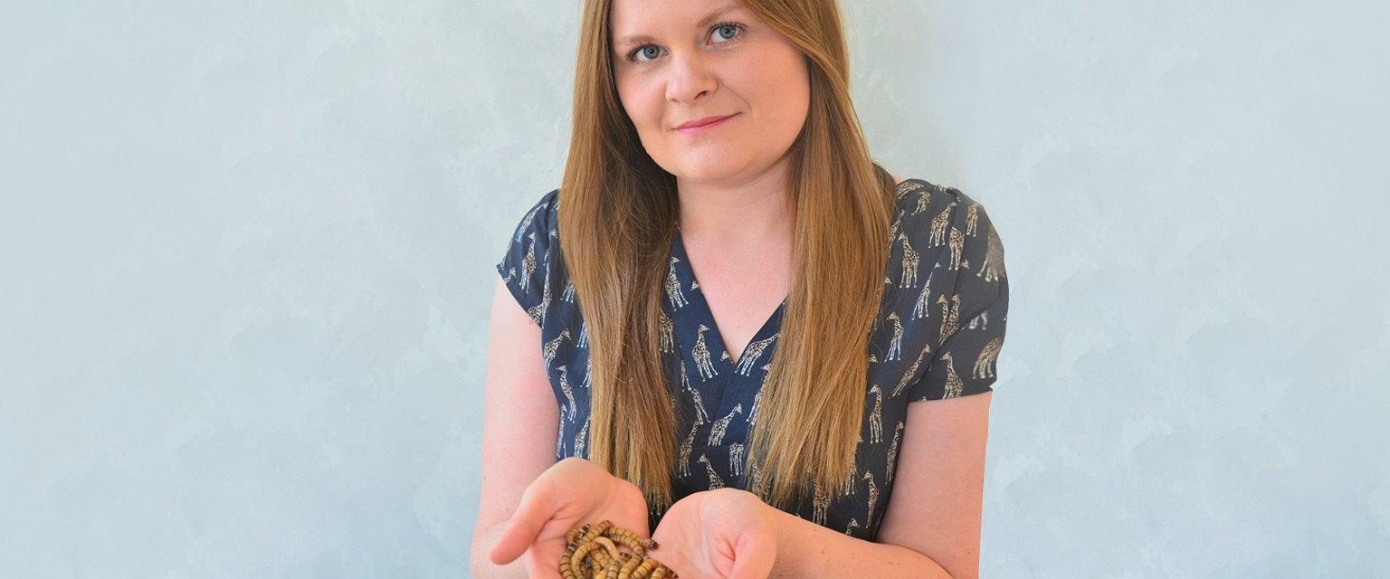 Ewelina Zielińska jest przekonana, że owady jadalne to przyszłość rynku spożywczego (fot: materiały archiwalne)