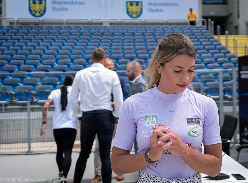 Kornelia Lesiewicz przed Memoriałem Janusza Kusocińskiego na Stadionie Śląskim