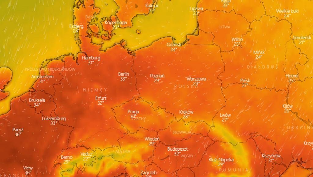 Upalna pogoda na koniec tygodnia - temperatury w sobotę 8 sierpnia.