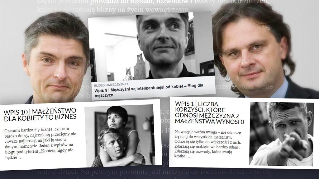 Marcin Stopa i Wojciech Wojciechowski, autorzy mizoginicznego 'Bloga dla mężczyzn'