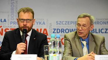 Konferencja prasowa ministra zdrowia Łukasza Szumowskiego i głównego inspektora sanitarnego Jarosława Pinkasa