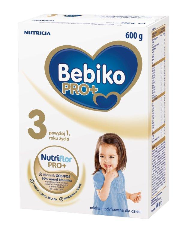 Bebiko PRO+ 3 - źródło błonnika odpowiada potrzebom dzieci powyżej 1. roku życia