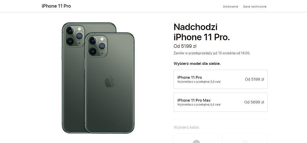 iPhone 11 Pro i 11 Pro Max - ceny