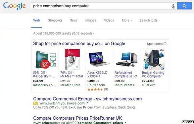 Google miało nadużyć swojej pozycji do promowania własnej porównywarki cen