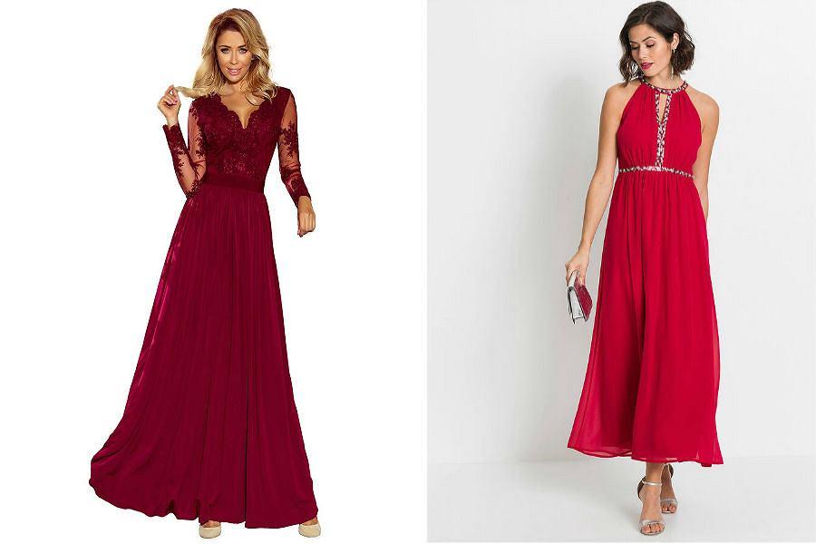 Suknie wieczorowe długie czerwone