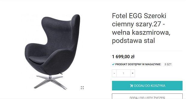 Podróbka fotelu Egg