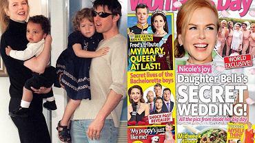 """Nicole Kidman i Tom Cruise z dziećmi / Okładka """"Woman's Day"""""""