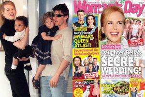 Nicole Kidman i Tom Cruise z dziećmi / Okładka Woman's Day