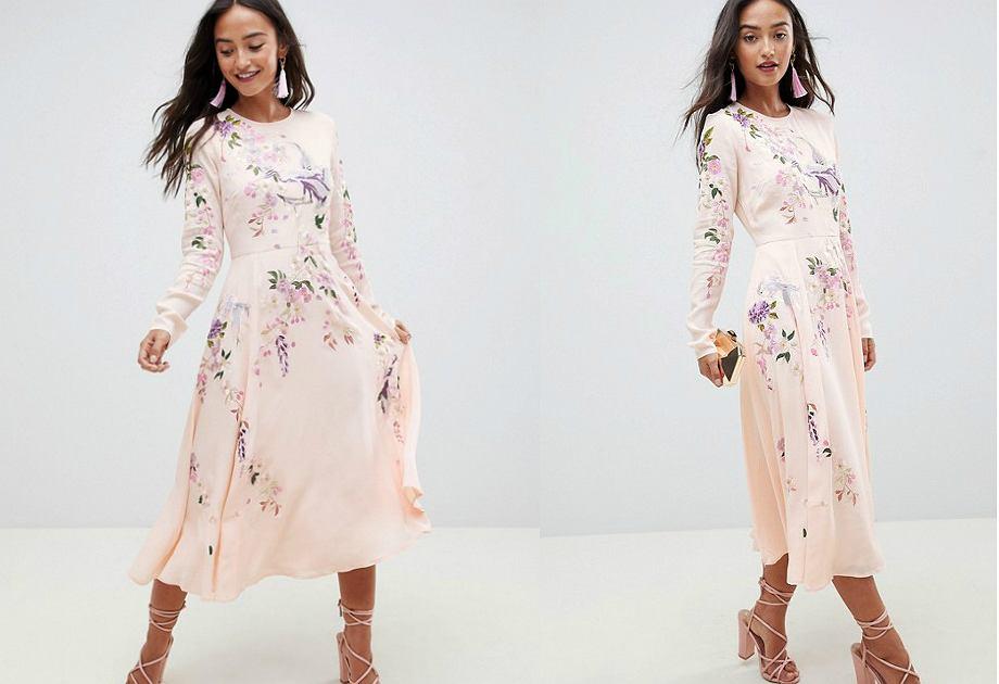 Sukienka Asos kosztuje na brytyjskiej platformie zakupowej około 430 złotych