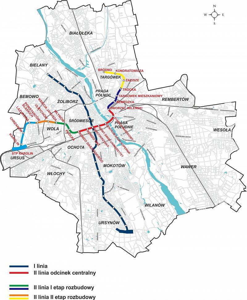 Linie metra w Warszawie