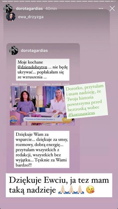 Dorota Gardias dziękuje za wsparcie kolegom z pracy