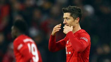 Robert Lewandowski w meczu Bayern - Borussia