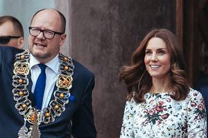 Paweł Adamowicz spotkał się z księżną Kate i księciem Williamem
