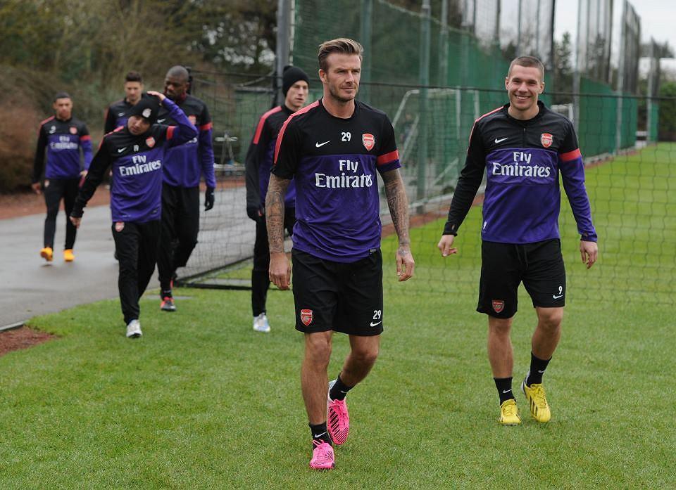 David Beckham trenuje z Arsenalem