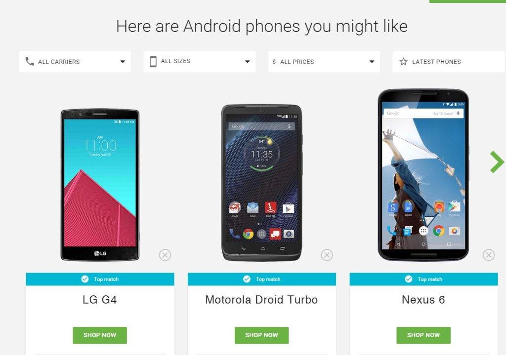 Google pomoże ci wybrać smartfon
