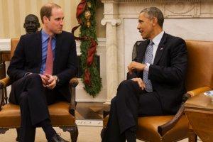 Książę William i Barack Obama