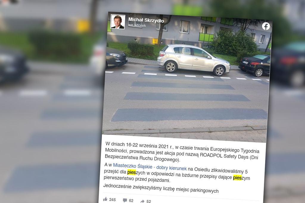 Miasteczko Śląskie. 'Bzdurne przepisy o pierwszeństwie' powodem likwidacji przejść dla pieszych