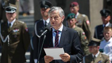 29.05.2018, Kielce, Andrzej Zybertowicz podczas Centralnych Obchodów Dnia Weterana.