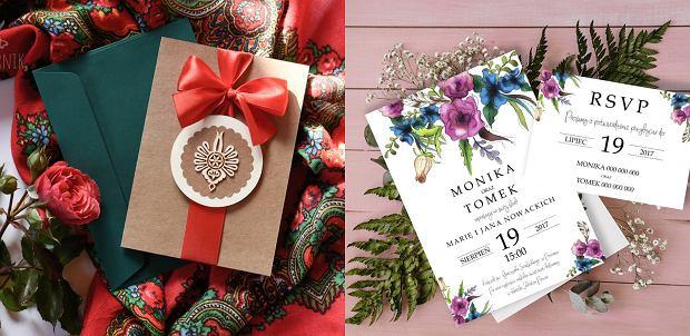 Zaproszenia ślubne: Folk od Papiernik, Flower of Love od Voska Studio