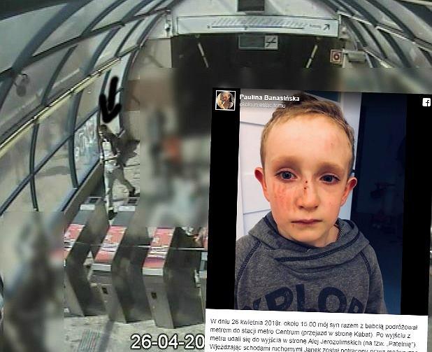 Popchnął 6-latka na schodach ruchomych w metrze
