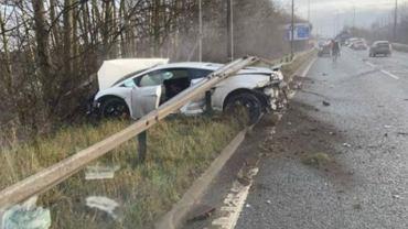 Bramkarz Manchesteru United miał wypadek. Doszczętnie rozbił luksusowy samochód