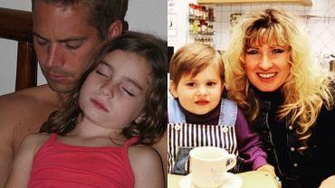 Paul Walker z córką, Beata Kozidrak z córką