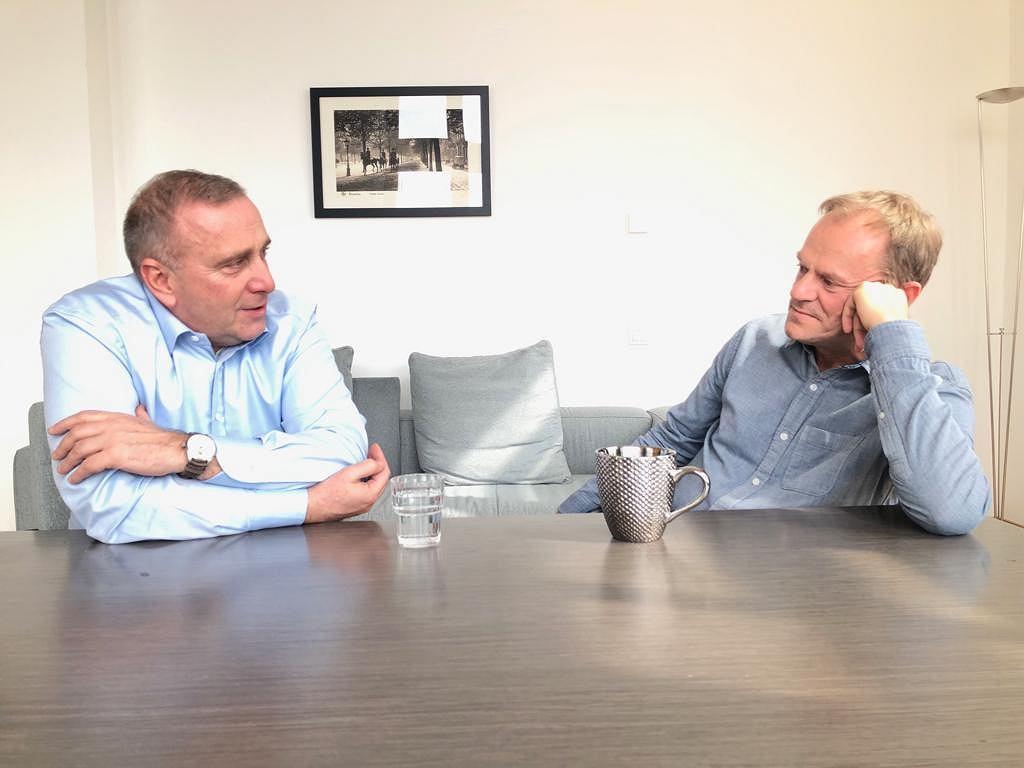 Spotkanie Grzegorza Schetyny i Donalda Tuska w Brukseli