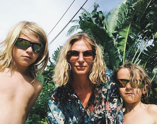 Luiza Jacob ze swoimi synami