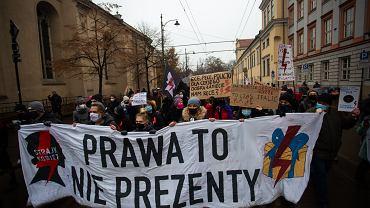 Protest Strajku Kobiet w związku z zaostrzeniem prawa aborcyjnego