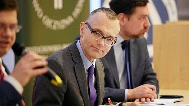 Częstochowa, 6 marca, 2020 r. Konferencja prawników 'Prawo do sądu - prawem człowieka i obywatela'. Na zdjęciu mecenas Mikołaj Pietrzak