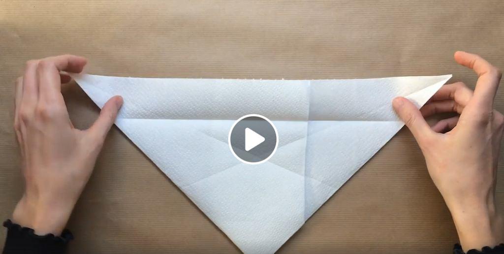 Maseczka origami z ręcznika papierowego - jak ją zrobić?