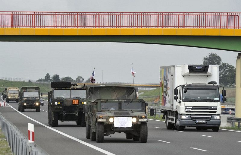 Przejazd kolumny wojskowej, GDDKiA
