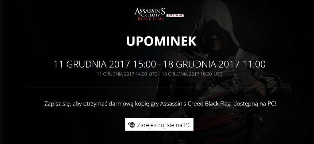 Assassin's Creed 4: Black Flag za darmo