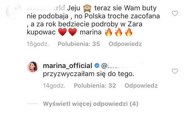 Marina odpowiada na krytykę
