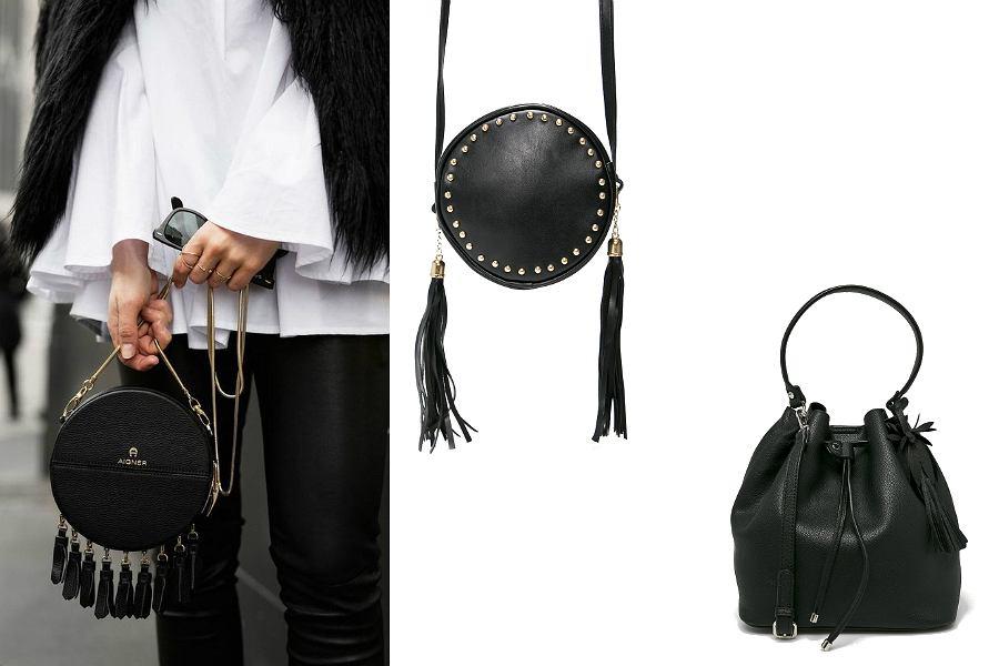 modne czarne torebki