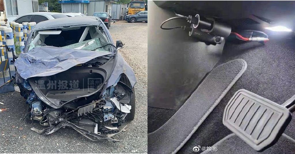 Kolizja Tesli Model 3 w Chinach i kamera w kabinie