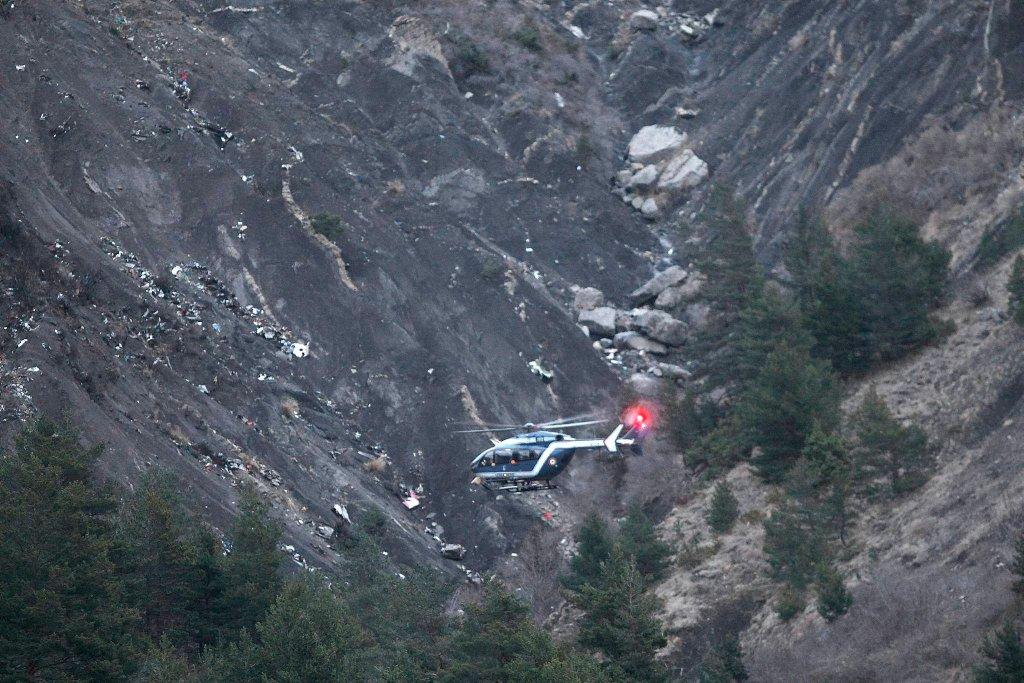 Alpy, miejsce katastrofy airbusa Germanwings