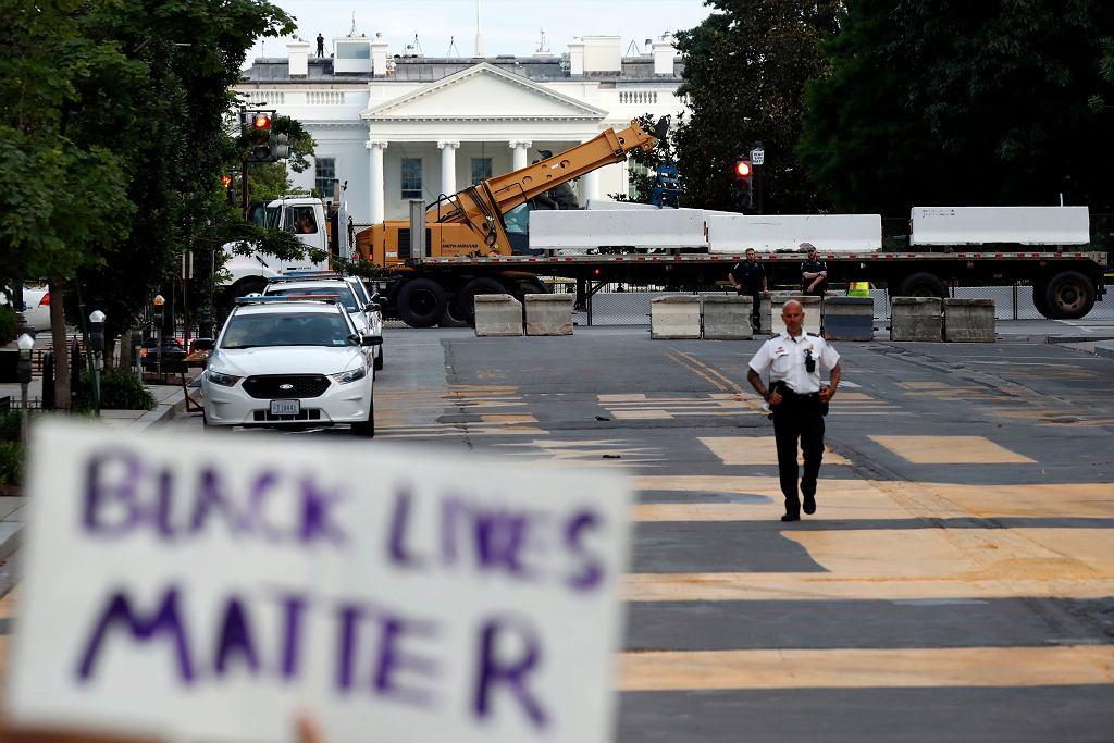 Antyrasistowski protest przed Białym Domem, 23 czerwca