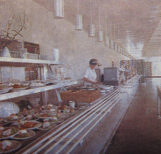 Wnętrze baru Gruba Kaśka w 1968 roku