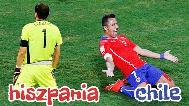 Hiszpania - Chile. Mistrzowie świata pod ścianą