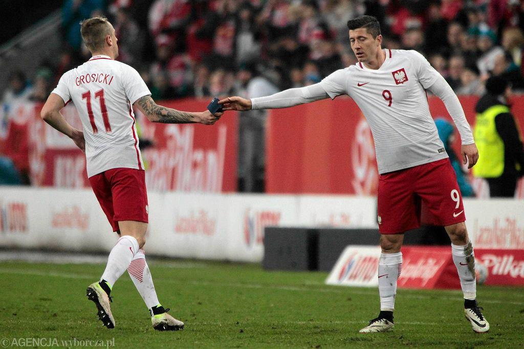 Kamil Grosicki i Robert Lewandowski