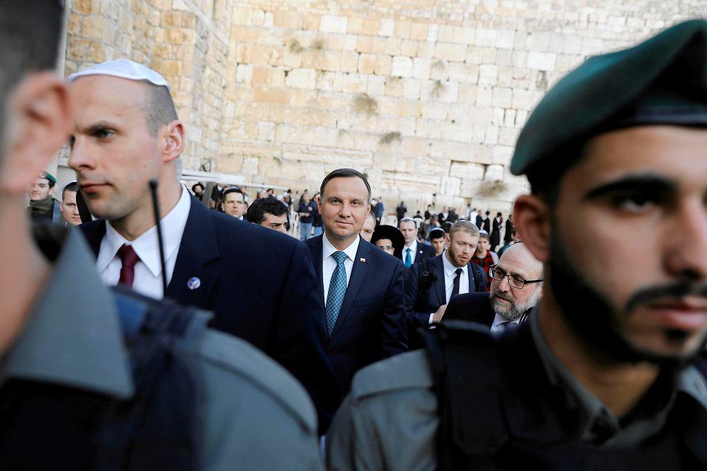 17.01.2017, prezydent Andrzej Duda zwiedza Jerozolimę podczas wizyty w Izraelu.