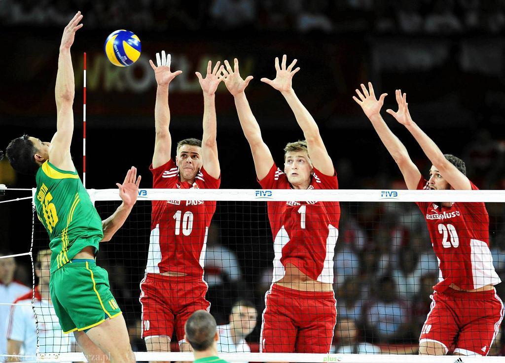 Siatkarskie MŚ: Polska - Australia 3:0. Mariusz Wlazły, Piotr Nowakowksi i Mateusz Mika