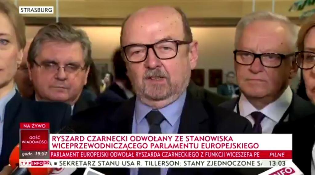 Ryszard Czarnecki odwołany. Europosłowie PiS stają w jego obronie