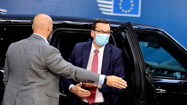 18.07.2020, Bruksela, premier Mateusz Morawiecki przyjeżdża na szczyt Unii Europejskiej.