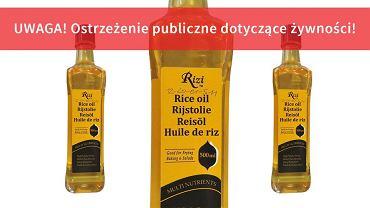 Olej Rizi wycofany przez GIS