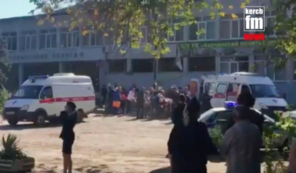 Strzelanina i wybuch w technikum w Kerczu na Krymie.