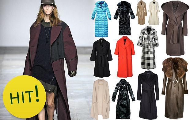 Długie płaszcze na jesień i zimę 2012